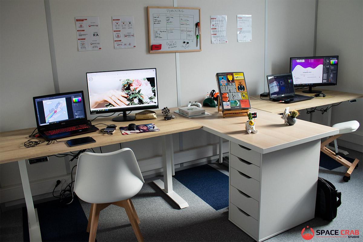 Bureaux de Space Crab Studio à Reims