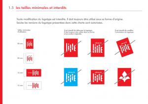 Extrait de la charte graphique de la ville de Lille