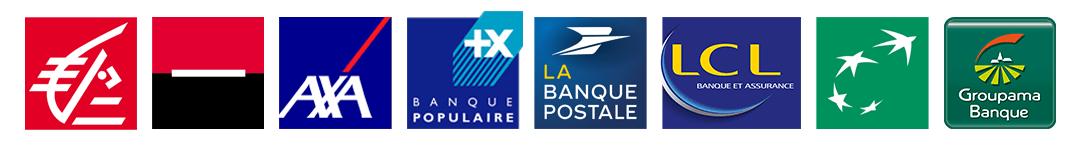Logo de banques en France