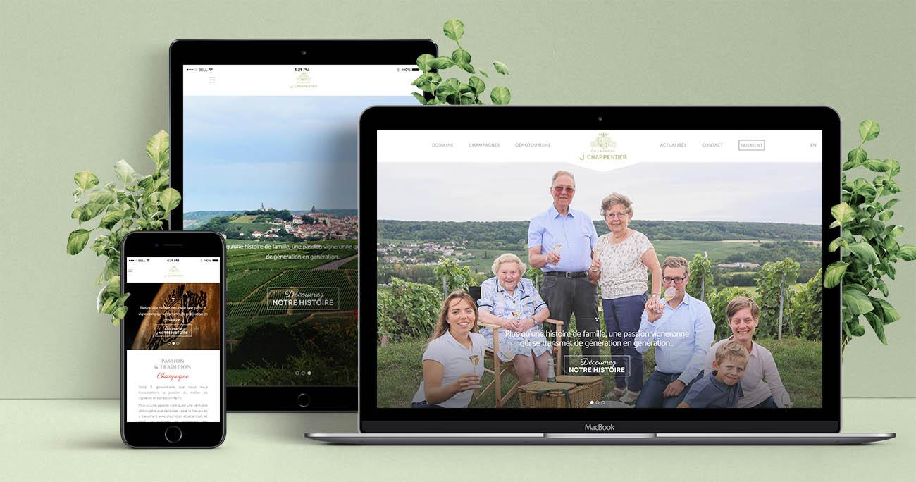 création site web champagne j.charpentier