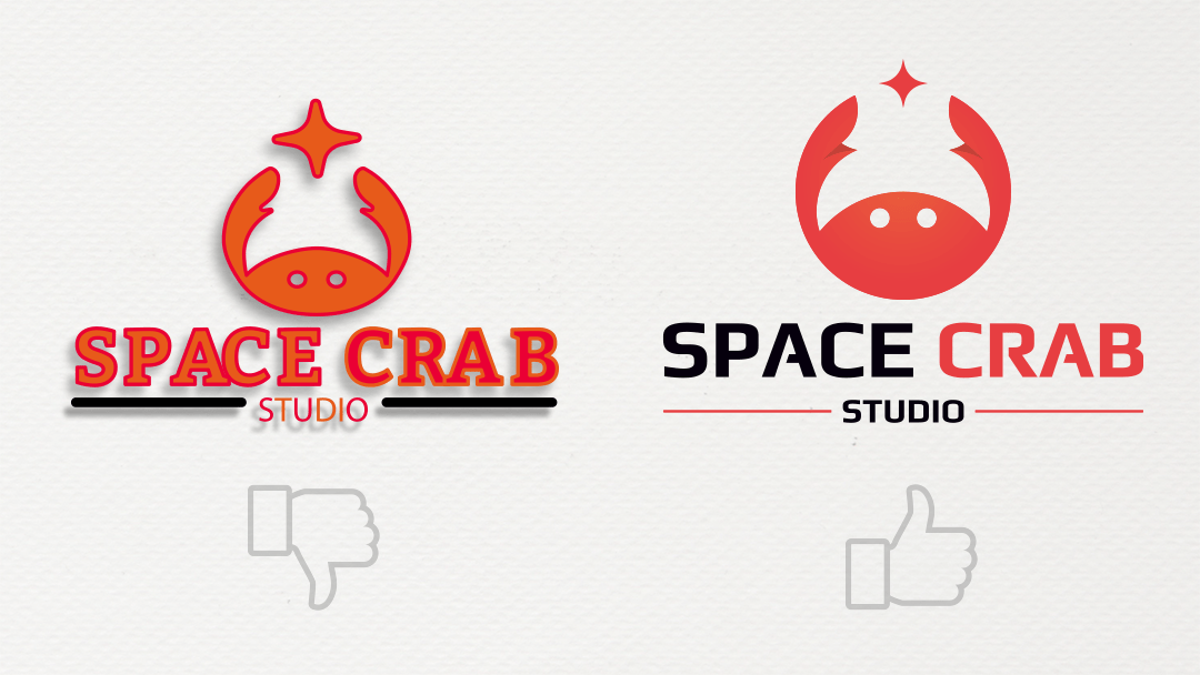 Bon logo et mauvais logo de Space Crab Studio Reims