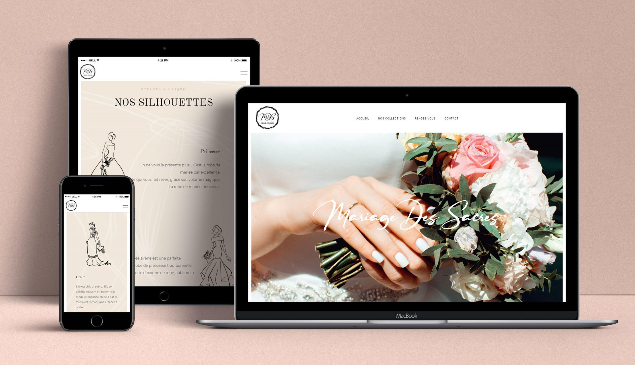 Création site internet reims mariage des sacres