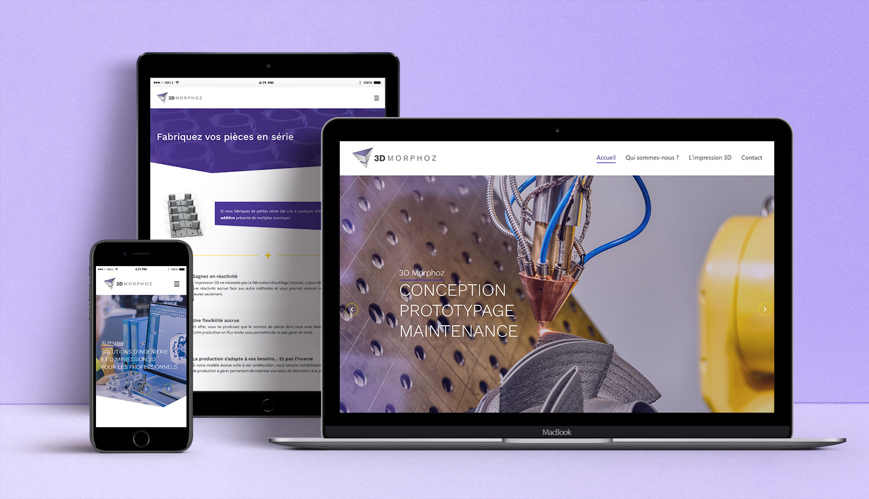 site internet responsive de 3D Morphoz
