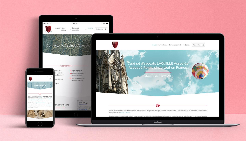 Site web du cabinet d'avocats Laquille et associés