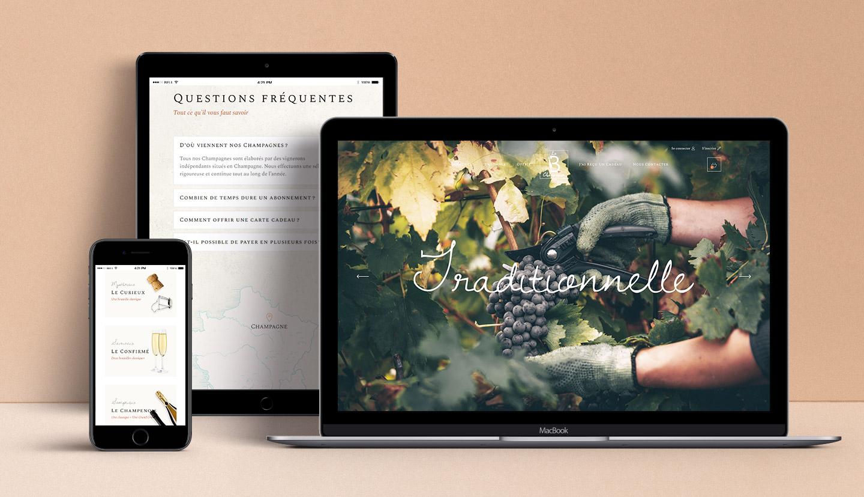 Site web de La Box Champenoise