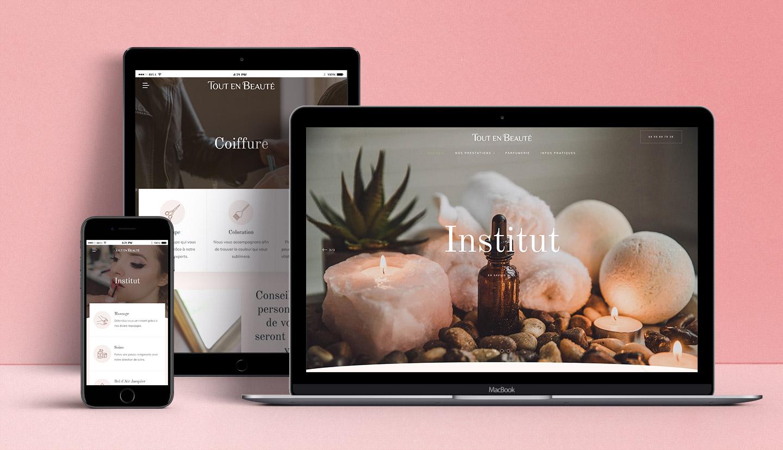 Site web salon de beauté Megève