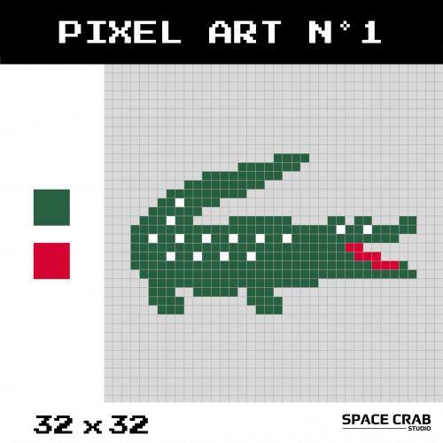 Logo pixel art Lacoste