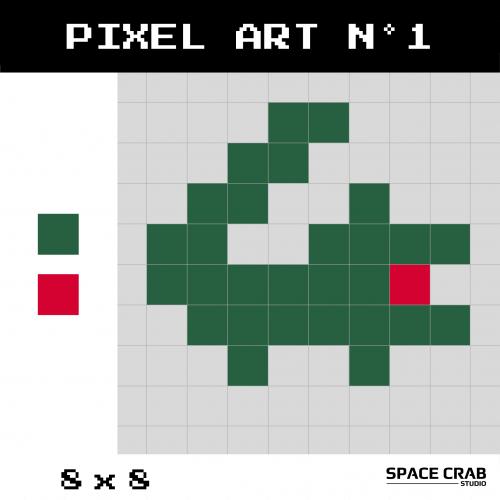 Logo pixel art Lacoste 8 par 8