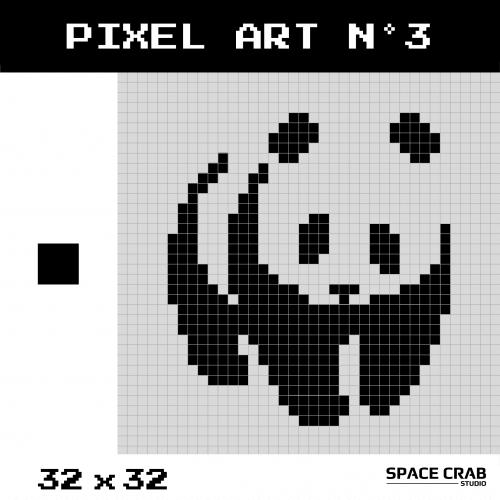 Logo pixel art WWF 32 par 32