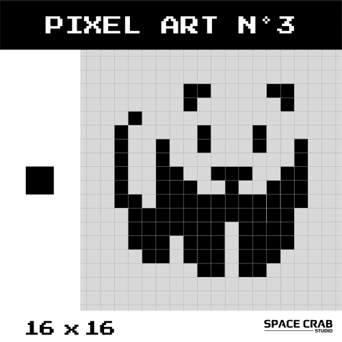 Logo pixel art WWF 16 par 16