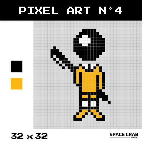 Logo pixel art BIC en 32 par 32