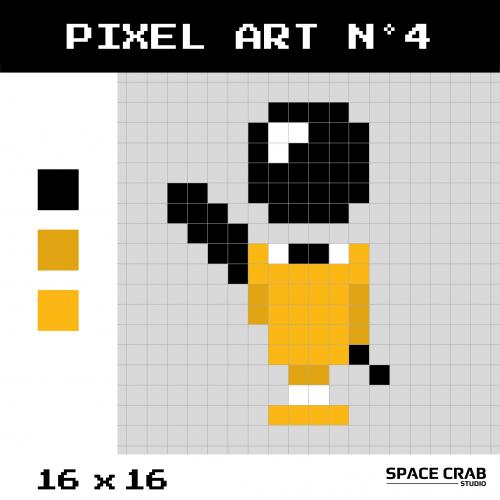 Logo pixel art BIC en 16 par 16