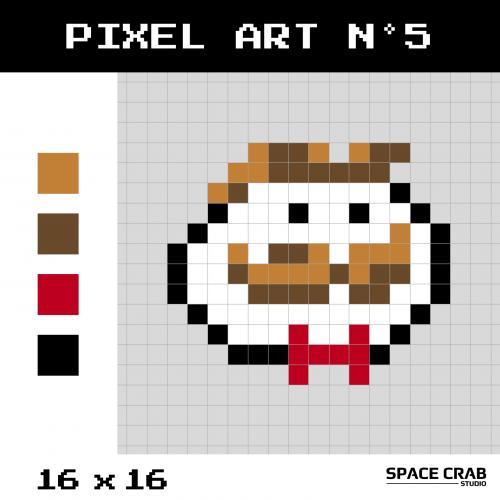 Logo pixel art Pringles en 16 par 16