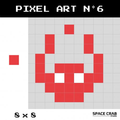 Logo pixel art Space Crab Studioen 8 par 8