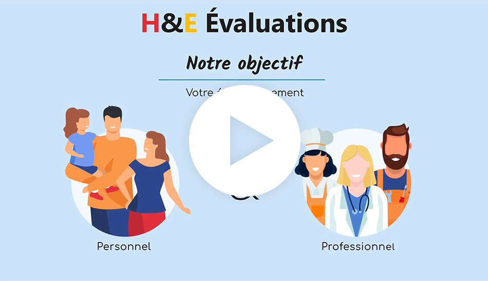 Vidéo Motion design d'H&E Évaluation