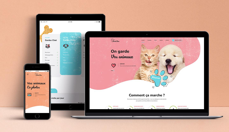 Site internet de Sweet Paw